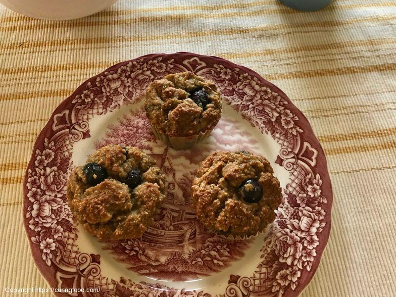 Bananenmuffins met blauwe bessen