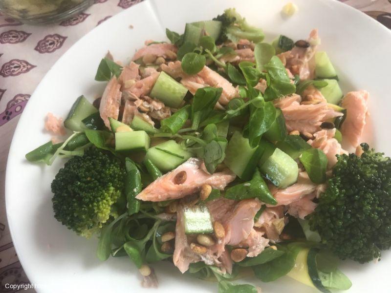 Salade van gegrilde courgette.